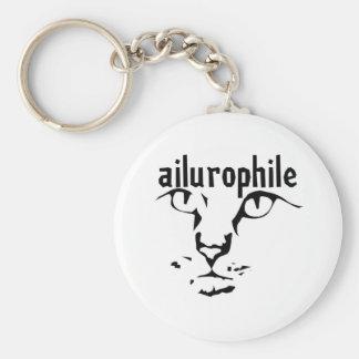 support principal ailurophile porte-clé rond