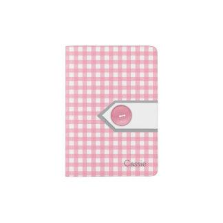 Support rose et blanc Girly de passeport de