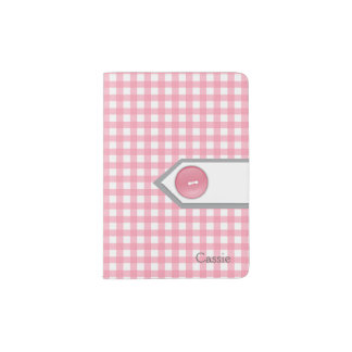 Support rose et blanc Girly de passeport de Protège-passeport