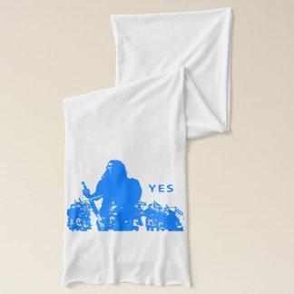 Support Scotland White Jersey Scarf Écharpe