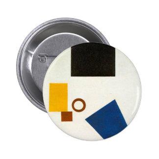 Suprematism. Autoportrait dans deux dimensions Badge