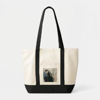 Sur la plate-forme (huile sur la toile) sacs