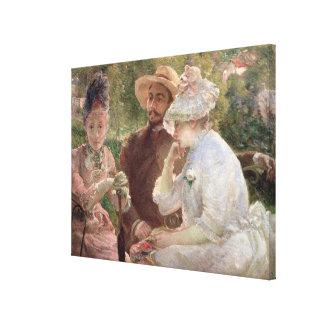 Sur la terrasse chez Sevres, 1880 (huile sur la Toiles