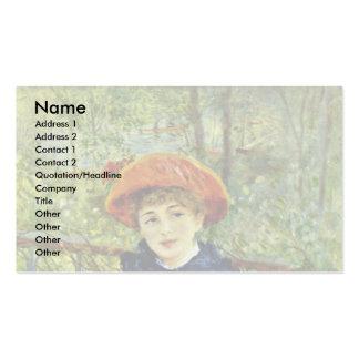 Sur la terrasse, par Pierre-Auguste Renoir Carte De Visite Standard