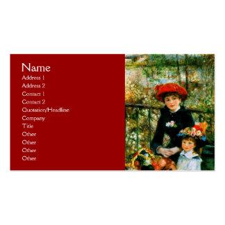 Sur la terrasse par Renoir Carte De Visite Standard