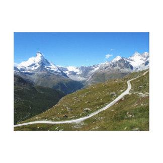 Sur la traînée, vue de Matterhorn, Alpes suisses Toile