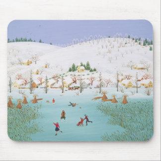 Sur le lac congelé 1987 tapis de souris