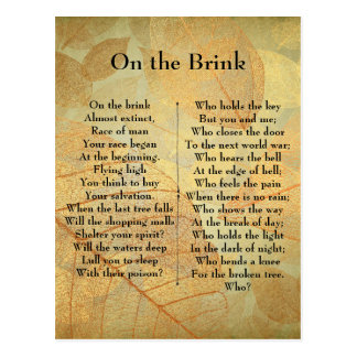 Sur le poème de bord carte postale