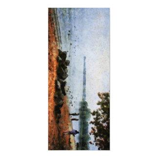 Sur le rivage d'un lac carton d'invitation  10,16 cm x 23,49 cm