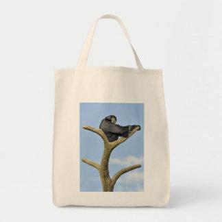 Sur le toit du monde gibbon sac en toile