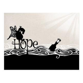 Sur l'espoir et les ailes de papillon, c'est une carte postale