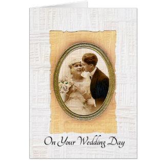 Sur vos couples de cru de jour du mariage carte de vœux