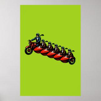 Surcharge de sidecar affiches
