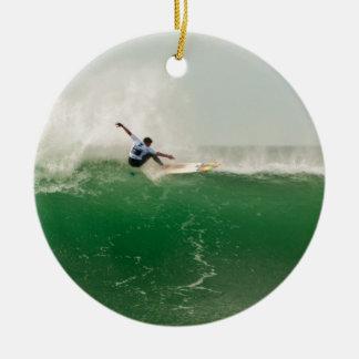 Surf à Biarritz Ornement Rond En Céramique