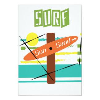 Surf abstrait, Sun et carte de plage de sable