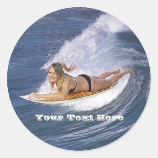 Surf Attrapez la vague Autocollants