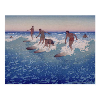 """Surf-Cavaliers, carte postale de Honolulu"" -"
