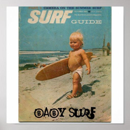 surf de bébé, surf de bébé poster