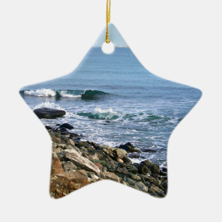 Surf de la Nouvelle Angleterre Ornement Étoile En Céramique