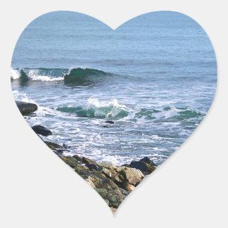 Surf de la Nouvelle Angleterre Sticker Cœur