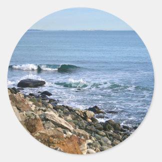 Surf de la Nouvelle Angleterre Sticker Rond