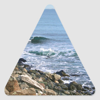 Surf de la Nouvelle Angleterre Sticker Triangulaire