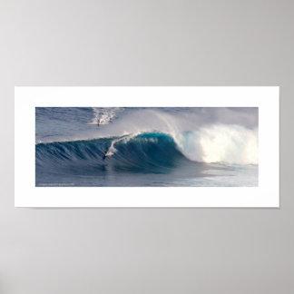 Surf de Maui de ~ de mâchoires Poster