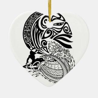 Surf de minuit ornement cœur en céramique