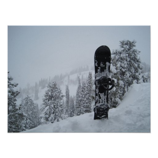 Surf des neiges dans la neige posters