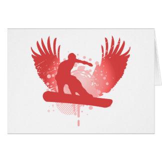surf des neiges : haute fidélité : carte de vœux