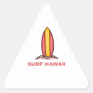 SURF HAWAÏ STICKERS EN TRIANGLE