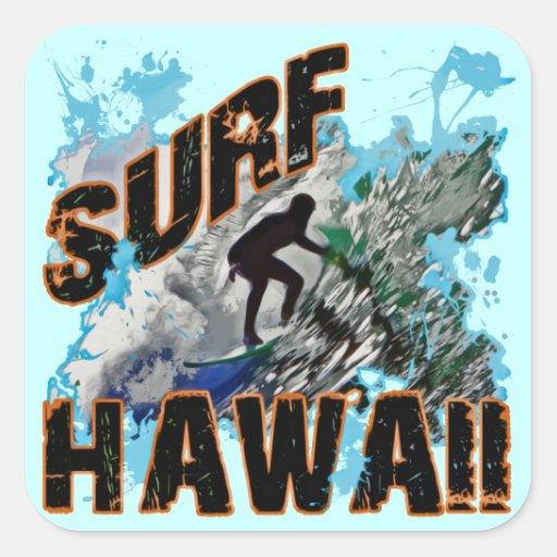 Surf Hawaï Sticker Carré