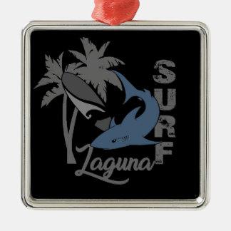 Surf - Laguna Ornement Carré Argenté