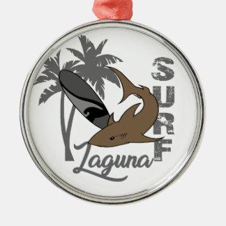 Surf - Laguna Ornement Rond Argenté