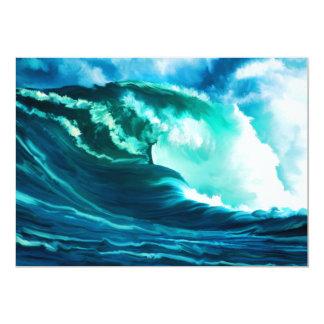 Surf Pacifique d'hiver Faire-part Personnalisé