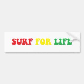 Surf pour l'autocollant de rasta de la vie autocollant de voiture
