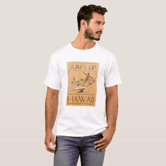 Surf vers le haut d'Hawaï