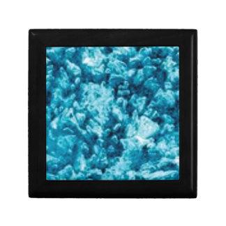surface de pierre bleue petite boîte à bijoux carrée