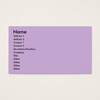 Surface pourpre approximative gracieuse simple cartes de visite