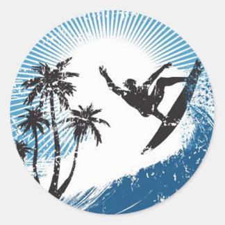 Surfer Autocollant