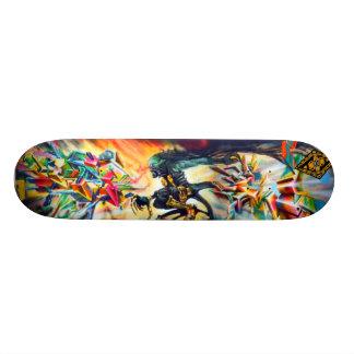 Surfer bleu d'Aqua - planche à roulettes d'art de  Plateaux De Planche À Roulettes