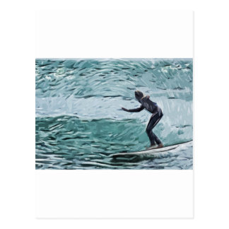 surfer carte postale