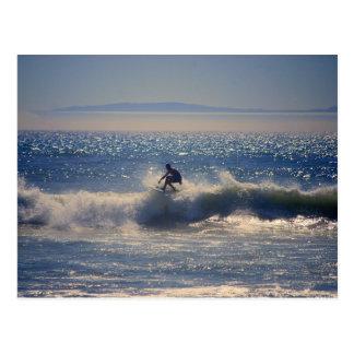 Surfer carte postale en Huntington Beach, la