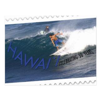 Surfer de carte postale d'anniversaire de
