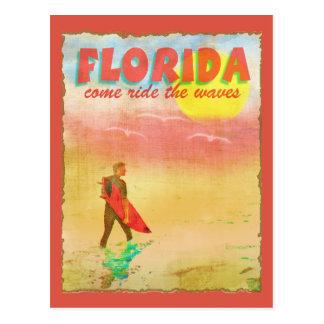 Surfer de la Floride Cartes Postales