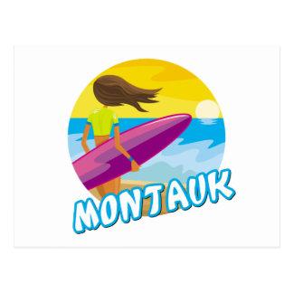 Surfer de Montauk Cartes Postales