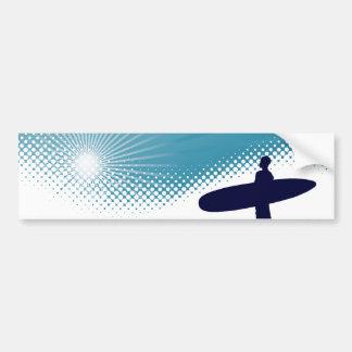surfer de soleil autocollant de voiture