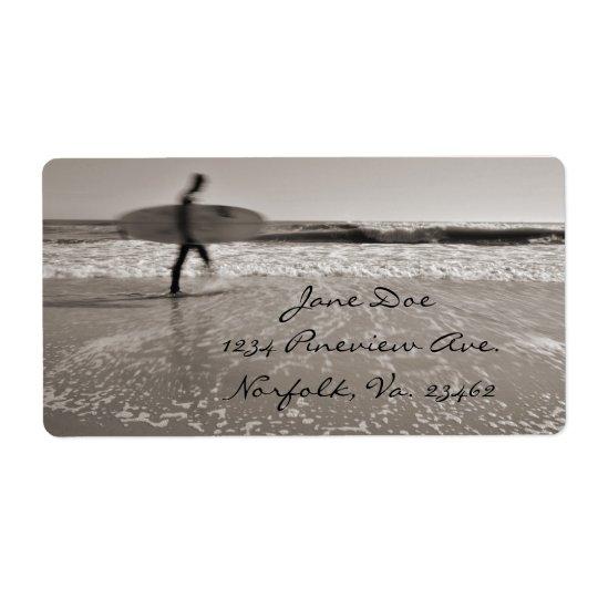Surfer Étiquette D'expédition