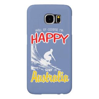 Surfer heureux AUSTRALIE (blanche)
