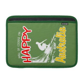 Surfer heureux AUSTRALIE (blanche) Poches Macbook Air
